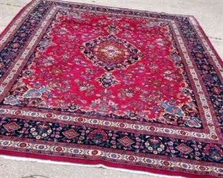002 Large Signed Persian Hand Woven Rug