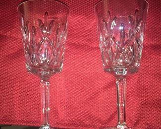 Tiffany Crystal Wine Glasses Very Nice Pair