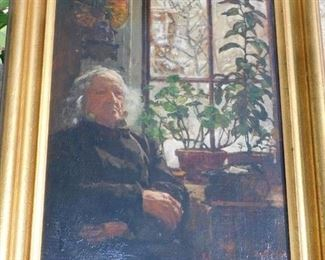 Ellen Day Hale (rare and fresh to market) Oil on Board