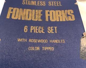 Rosewood Fondue Forks