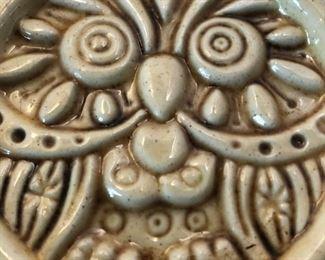 Set of 6 Vintage Owl Ceramic Coasters