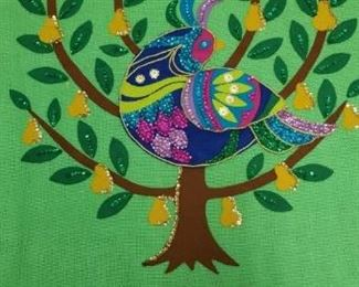 Hand made vibrant textile