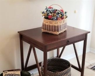 Entry table with original art