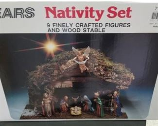 Sears Nativity set