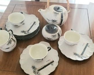 Vintage fine porcelain Asian tea set