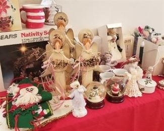 A table of Christmas goodies
