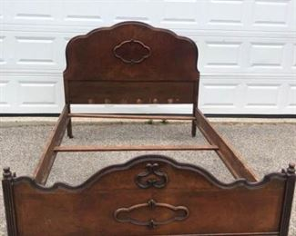 Antique Mahogany Bed Frame