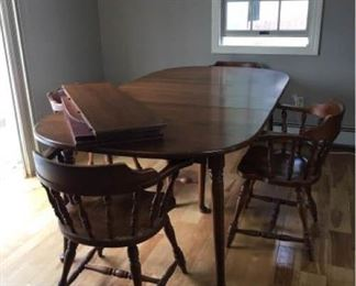 Vintage Hale Company Maple Dining Table and Chairs
