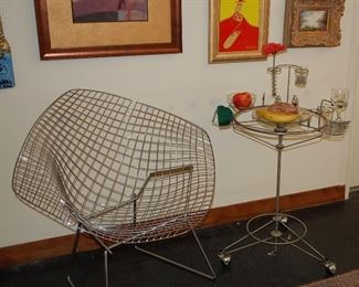 "1950's Knoll wire chair and Joey Manic ""Virtual Diner"""