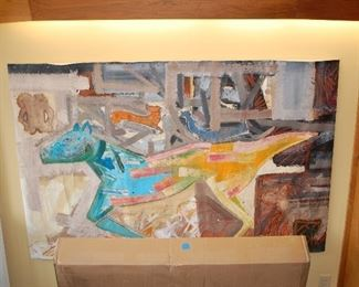 Very large Josh Taylor canvas