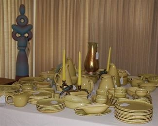 "Russel Wright pottery in ""Chartreuse Curry"""