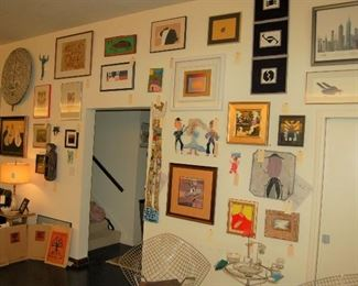 A wall of art