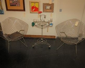 "Knoll wire chairs and ""Virtual Diner"""