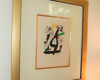 Jean Miro, signed lithograph