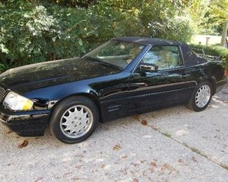 Minimum bids will be taken.  1997 Mercedes with 43,468 miles, convertible with hardtop