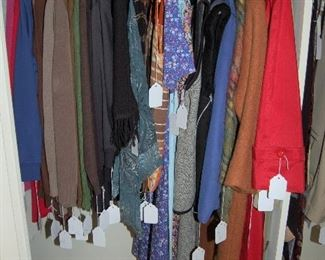 Women's clothes in large