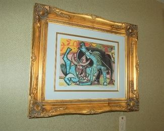 """The Bullfight,"" signed Picasso lithograph"