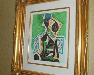 """Lady in Chair,"" Picasso"