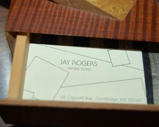Jay Rogers puzzle boxes