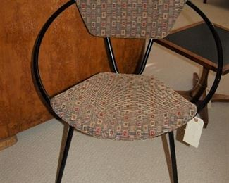 Metal and fabric retro chair