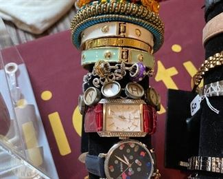 Fossil watches, charm bracelets