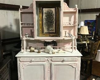 Painted French cabinet- Great for shop or home