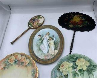 Cake Plates, Porcelain Piece, Fan, Mirror