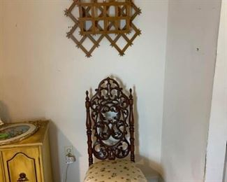 Chair and Wall Storage Piece
