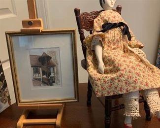 Doll, Chair, Print, More