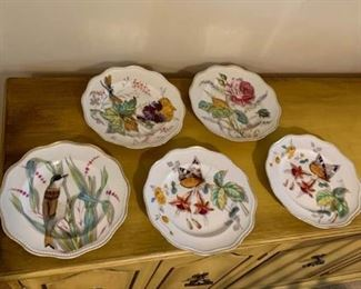 Five Hand Painted Plates