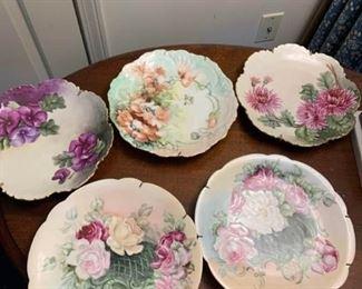 Floral Porcelain Plates