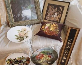 Hand Painted Porcelain Plates, Wall Decor More