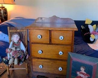 Mini Dresser, Dolls, Art
