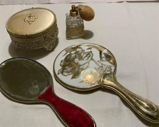 Mirrors, Powder Box, Atomizer