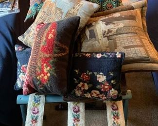 Pillows and Luggage Rack