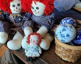Raggedy Ann, Andy, Porcelain Balls