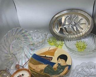 Silverplate, Glass, Pottery
