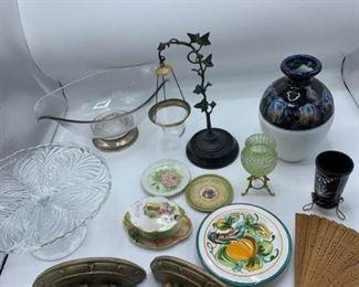 Wood, Metal, Porcelain, Glass