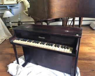 a miniature piano which works