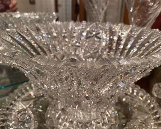 Fabulous Example of cut glass crystal! Great condition, brilliance & impressive weight too! Picture does no justice on this piece.