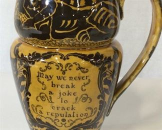 Antique Royal Doulton 'June 5 1906' Cat Pitcher