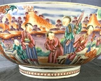 Antique Mandarin Palate Famille Rose Bowl