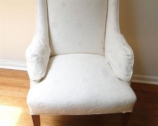 White wing chair needs to be cleaned. $50