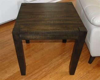 "Contemporary wood end table 24x24"" $40"