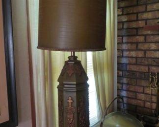 tall retro lamp