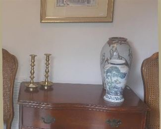 One of many gorgeous antique chests (c. 1940), Blue and White, Art