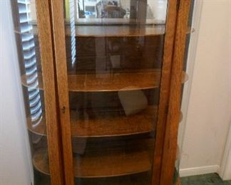 Darling American Oak Curved Glass China Cabinet