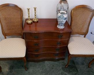 2 of the 4 chairs that match the French Provincial Dining Room Suite