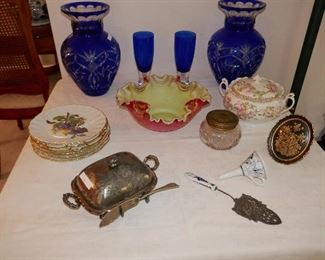 Vintage Glass, China and Silverplate
