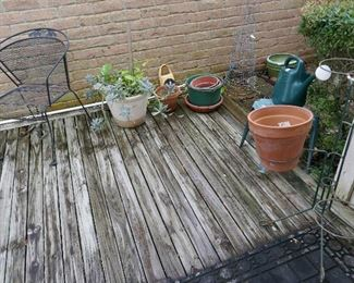 Nice Patio Furniture, pots and misc.